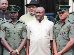 Governor Wike With Rivers Indigenes of the 64th Regular Course of the Nigerian Armed Forces