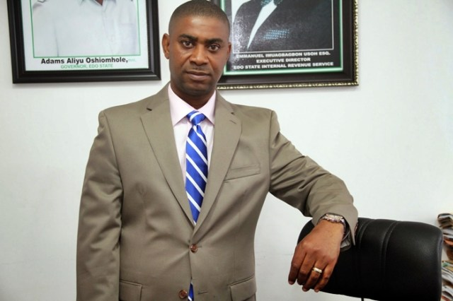 Edo State Commissioner for Wealth Creation, Cooperatives and Employment, Emmanuel Usoh