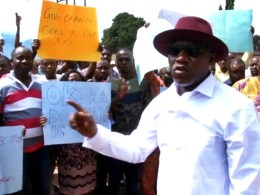 Members of the Independent Petroleum Marketers Association of Nigeria (IPMAN), Warri Depot During a Protest on Dec. 1