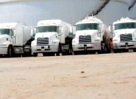 Petroleum Trucks at Fuel Depot