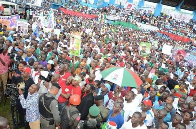 File Photo: Delta State PDP Mega Rally at Sapele