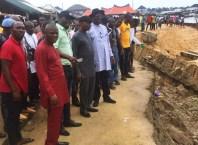 Senator Manager, Honourable Pondi and Safugha Visit Landslide Site at Tuomo Community