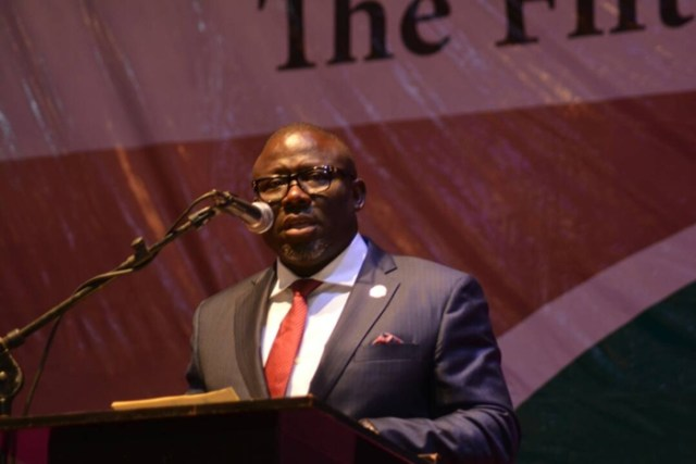 Delta Speaker, Rt. Hon. Sheriff Oborevwori Speaking at the 5th Criminal Justice Reform Conference organised by the NBA Criminal Justice Reform Committee in Asaba