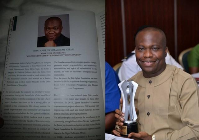 Igban World Habitat leadership Award