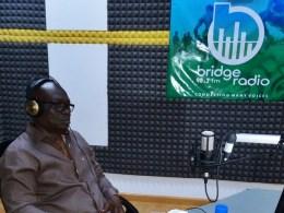 Comrade Macaulay at Bridge FM Radio Asaba