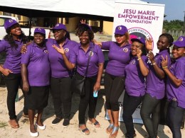 President/Founder, Jesu Marie Empowerment Foundation, JMEF, Dr. (Mrs) Rukevwe Ugwumba (4th right) with some Female Doctors and members, Medical Women Association of Nigeria, after a Successful Medical Outreach by JMEF at Ughelli General Hospital, Ughelli