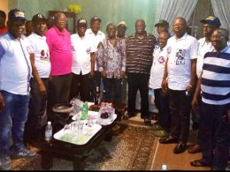 Comrade Ovuozourie Macaulay at Courtesy Visit to PDP National Vice Chairman (South-South), Bro. Emmanuel Ogidi in Ellu, Isoko North LGA
