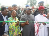 Okowa Commissions Projects by Governor Wike in Port Harcourt