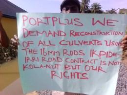 Isoko Protest Against Portplus
