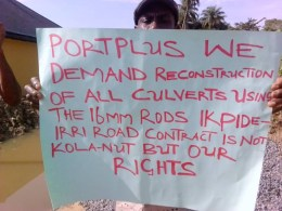 Isoko Protest Against Portplus