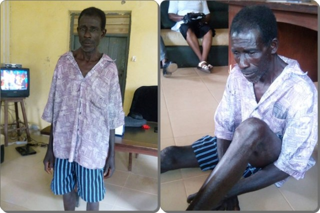 65-year-old Matthew Omokhafe arrested for allegedly defiling and impregnating a 13-year-old Primary Four pupil in Akoko-Edo Local Government Area of Edo State.