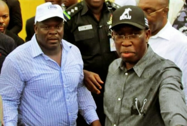 L-R: Hon. Ochor, Governor Okowa