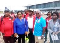 CAA Asaba2018 LOC Chairman, Solomon Ogba bidding Farewell to Athletes at Asaba Airport