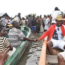 Friday Osanebi Inspects Flood Damages in Beneku (1)