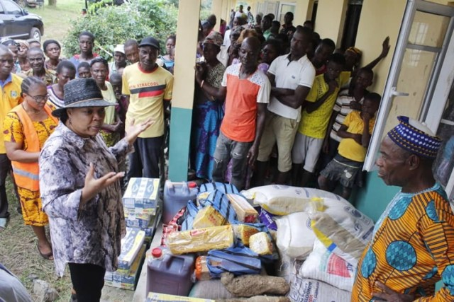 Nwaka Visits Aniocha South Flood Victims
