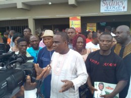 Delta Lawmaker, Dr. Alphonsus Ojo Addressing the Press