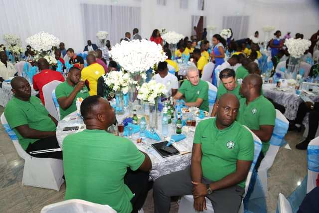 Super Eagles Team at Delta State Government House