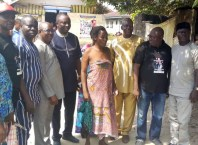 Elozino Ogege's Mother (middle) Flanked by Members of the Isoko Advancement Network during a Condolence Visit at Irri, Isoko South LGA