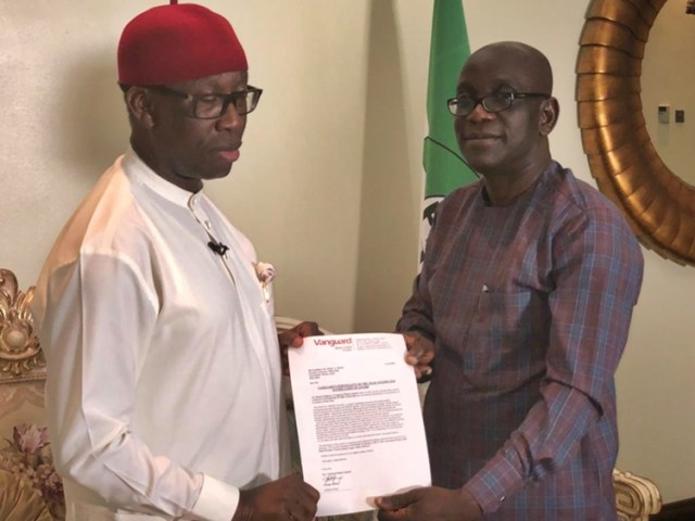 Governor Ifeanyi Okowa Wins Vanguard 2018 Governor Of The Year Award