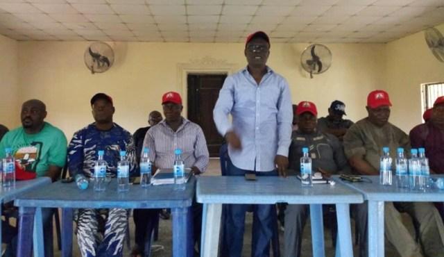 Comrade Ovuozourie Macaulay addressing Members of Isoko Nation For Okowa