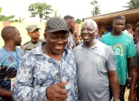 L-R: Rt. Hon. Sheriff Oborevwori Celebrates with Hon. Efe Afe