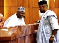 Senator Bukola Saraki and Senator Godswill Akpabio