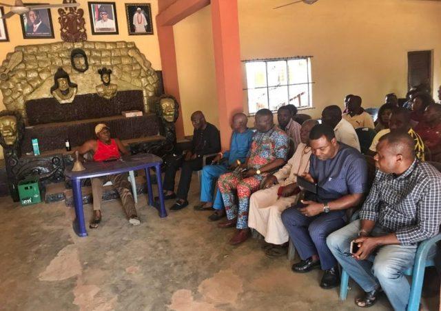 Umunede Monarch, Obi Ezeagwuna Agadagidi I Address Elekeokwuri's entourage