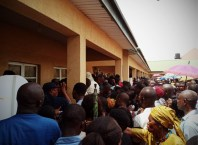 Hundreds of Electorates eager to cast their Votes at Uzoigwe Primary School, Asaba