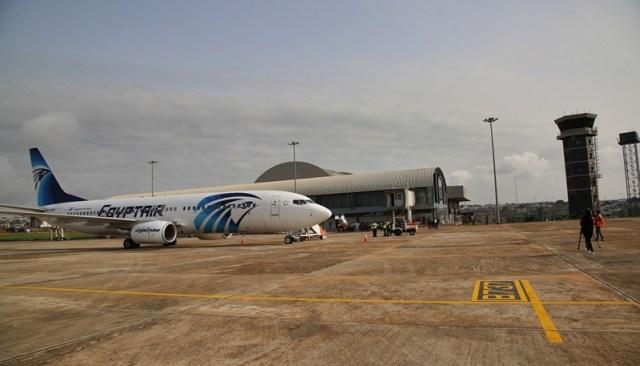 EgpytAir at Asaba International Airport