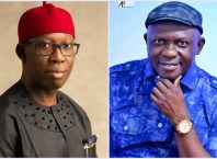 Pics: Governor Ifeanyi Okowa (L) and Hon Victor Nwokolo (R)
