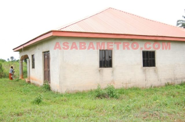 The abandoned structure in Ogwashi-Uku Polytechnic where the deceased was found