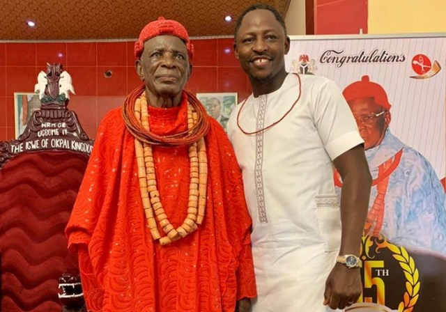 His Majesty, Igwe Goldring Ugbome, the Igwe of Okpai Kingdom Honours Delta Deputy Speaker, Rt Hon Friday Ossai Osanebi with Chieftaincy Title.