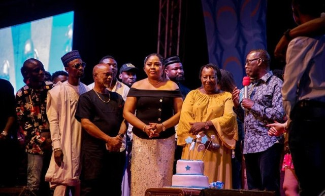Governor Okowa Speaking at a Victory Party organized in his Honour by 2Things Production and Nollywood