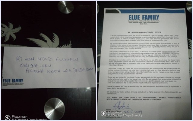 Elue Apology to Elumelu