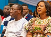 Governor Ifeanyi Okowa and Dame Edith Okowa at the 5th Edition of the Couples Forum held on May 15, 2019