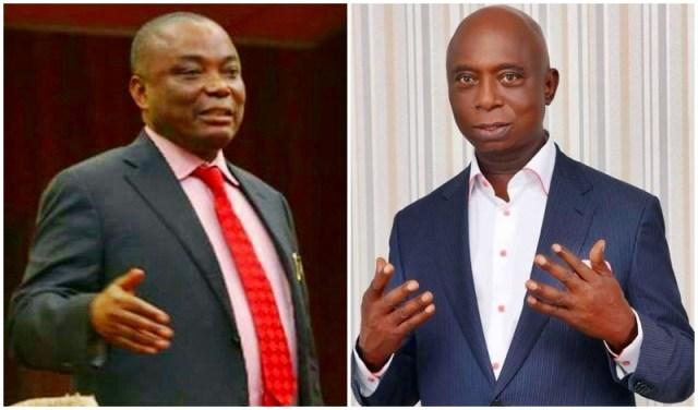 L-R: Senator Peter Nwaoboshi and Prince Ned Nwoko