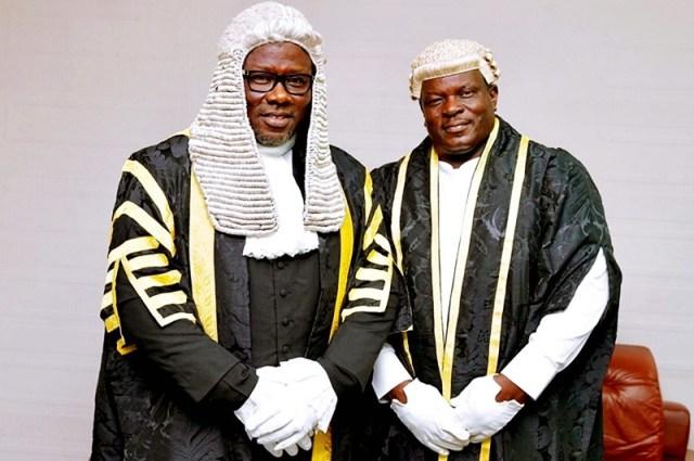L-R: Delta State Seventh House of Assembly Speaker, Rt. Hon. Sheriff Oborevwori and Deputy Speaker, Rt. Hon. Christopher Ochor Ochor