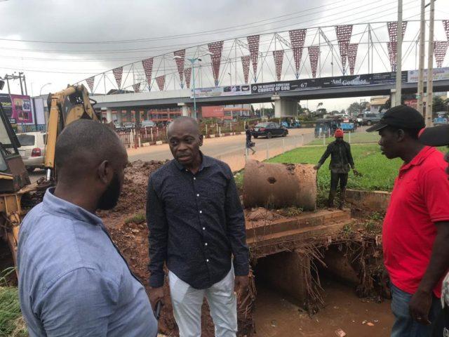 Desilting of Blocked Drains at InterBau Asaba, Delta State