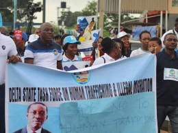 Delta State Task Force on Human Trafficking and Illegal Migration Rally 2019