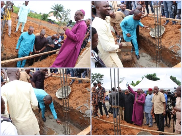 Foundation laying of Isoko Youth House