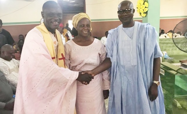 General Overseer of God's Own Revolutionary Church, Agbor, Rev Oke Akokotu with Spouse, and Rt Hon Emmanuel Okoro