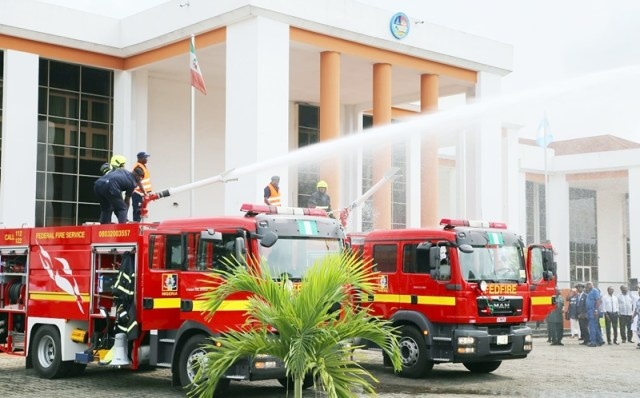 Fire-Fighting Trucks procured by Federal Fire Service for its Zonal Office in Asaba.