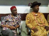 L-R: Rt. Hon. Rotimi Ameachi and Olorogun Festus Keyamo, SAN during a visit to Warri, Delta State