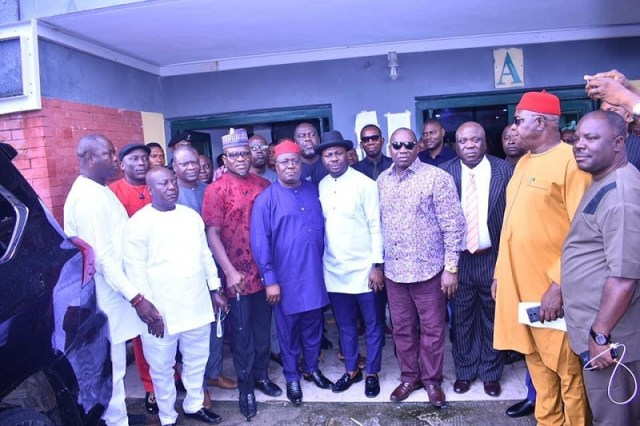 Delta State House of Assembly Committee on DESOPADEC meeting with Board Members of DESOPADEC at Commission's headquarters in Warri