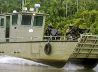 Nigerian Military Gun Boat used by the Nigerian Navy