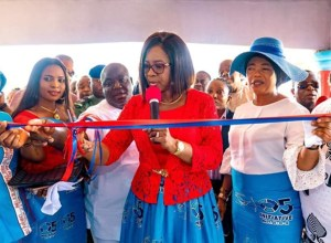 Dame Edith Okowa Unveiling the 14th Sickle Cell Clinic in Delta State