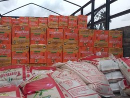 Food Items for Covid-19 Lockdown donated by Osanebi to Ndokwa East Constituents