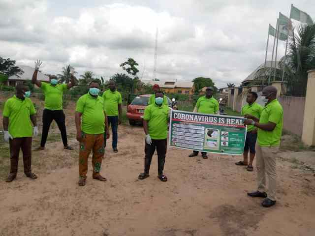 Sensitisation program for Covid-19 by Deputy Speaker, Delta State House of Assembly, Rt. Hon Ochor Christopher Ochor in Ukwuani Local Government Area