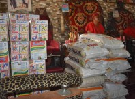 Some of the Food Items Donated to Eze Jonathan Kanegide, JP and Igwe Golding Ugbomah