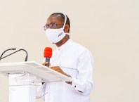 Governor of Delta, Senator  Dr. Ifeanyi Okowa Speaking during  the Thanksgiving Service to  mark his  fifth year in Office on May 29, 2020